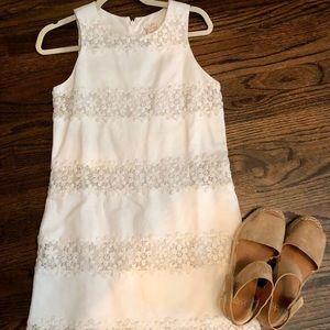 J. Crew floral white dress